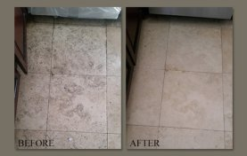 Laundry Room Travertine Floor Restored