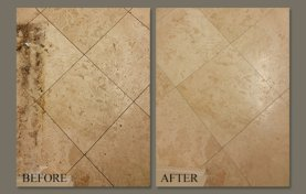 Travertine in Poway Estates Polished