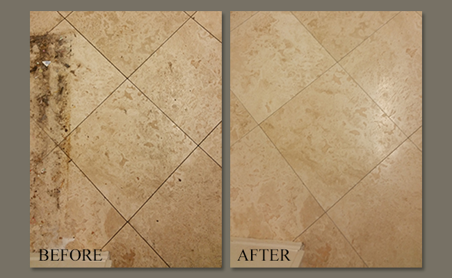 Travertine restored Poway Estates