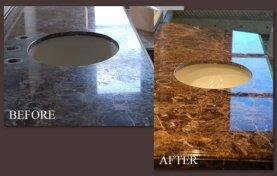 Marble Countertop Honing and Polishing