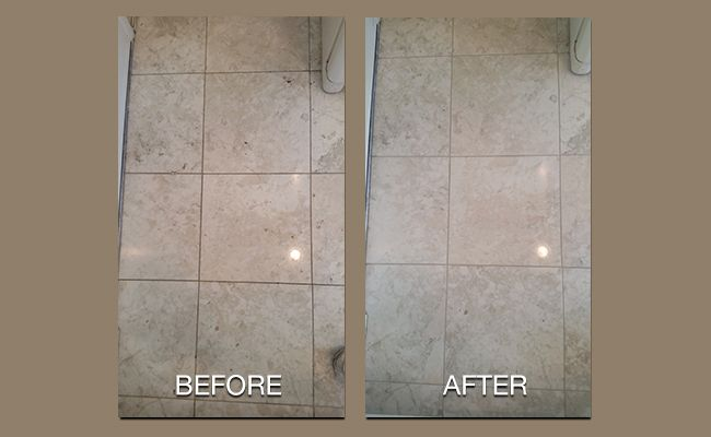 Marble Before and After Cleaning
