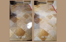 Quartzite Floor Cleaned and Restored