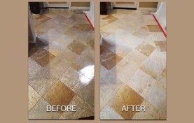 Quartzite Floor Cleaned and Restored