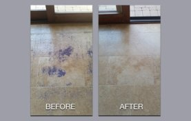 Rug Backing Damaged Travertine