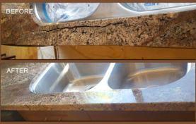 Granite Countertop Crack Repaired