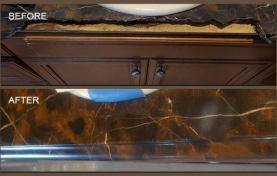 Precision Repair For Marble Vanity