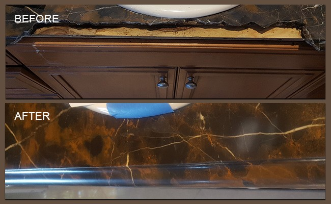 San Diego Marble Repair Before and After
