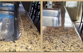 Cracks Repaired and Granite Refinished