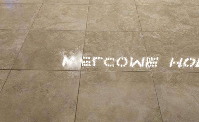 Barona Travertine Floor After Topical Sealer