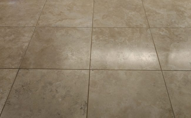 Barona Travertine Floor Before Topical Sealer