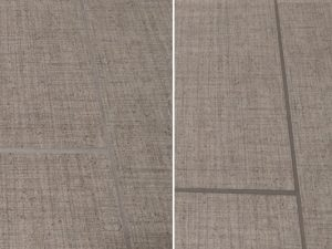Brown Porcelain Grout Before and After