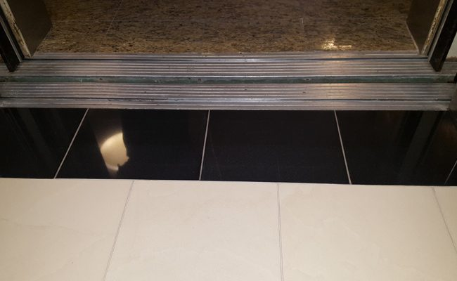 Coronado Black Granite Elevator After