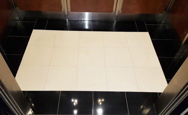 Coronado Black Granite Elevator Interior Floor