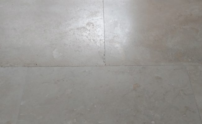 Etched Travertine After