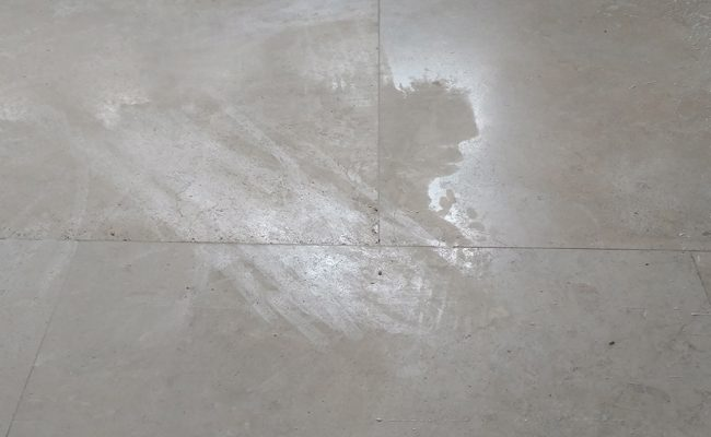 Etched Travertine Before