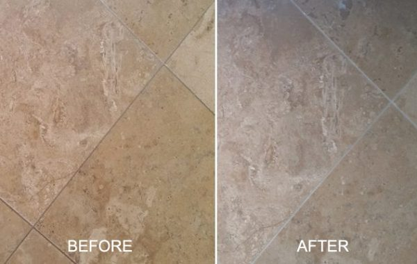 Gray Travertine No Longer Yellow