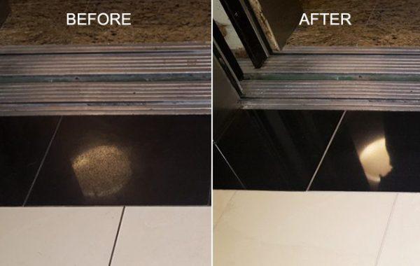 Black Granite Elevator Floor Refinished