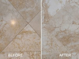 Honed Marble Before and After