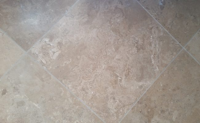 Honed Travertine After Service