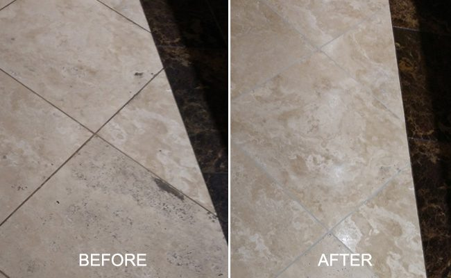 Before and After Travertine