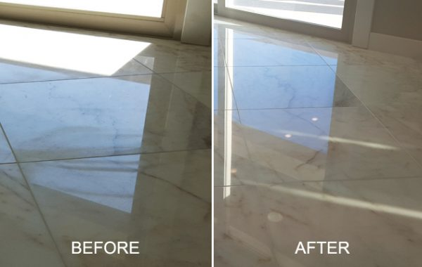 Polished Marble Factory Marks Removed