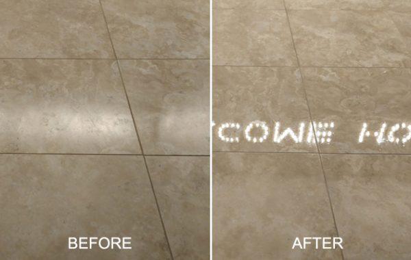 Barona Travertine Floor & Drain