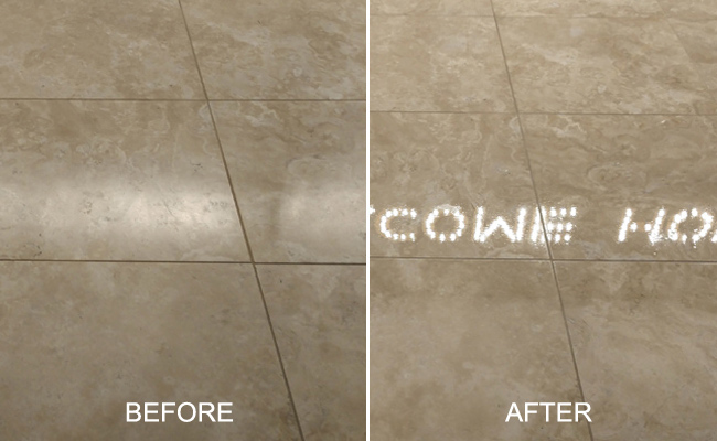 Travertine Before and After Restoration