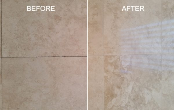 Satin Finish Travertine Restored