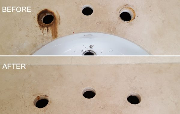 Rust Removed From Sink Area