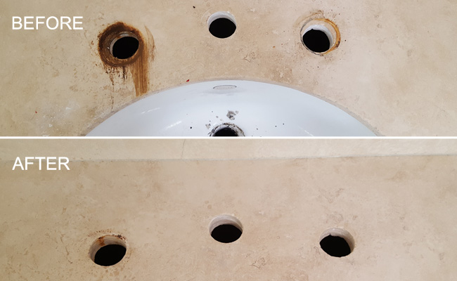 Natural Stone Rust Removal