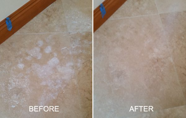 Travertine Salt Deposits Removed