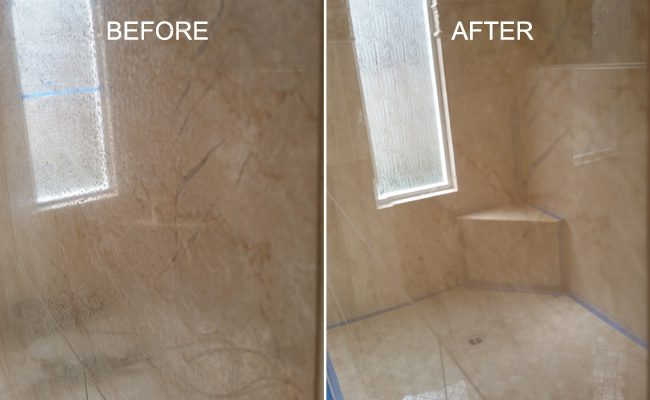 Shower Cleaned and Restored