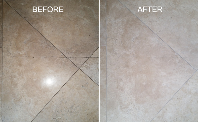 Travertine Crack Repair