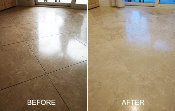 Travertine Old Sealer Removed