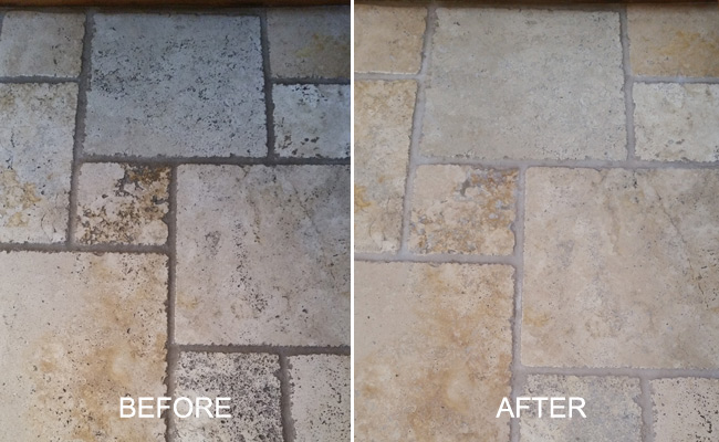 Tumbled Travertine Restoration