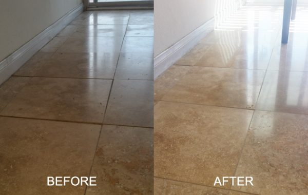 Honed Travertine Like New Again