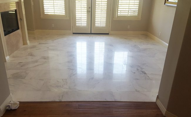 Refinished Marble Floor