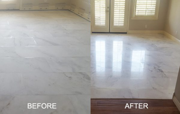Marble Floor Factory Finish Restored