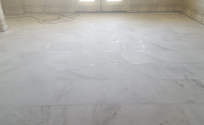 Marble Floor Regrouting