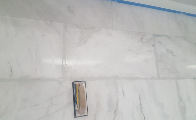 Marble Grout Replacement