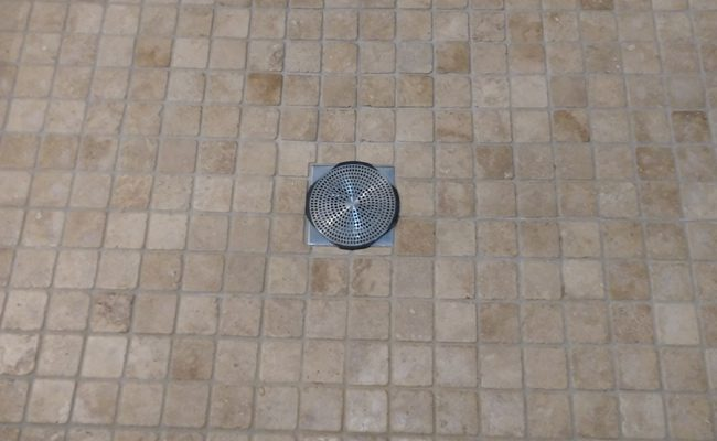 Travertine Shower Pan After