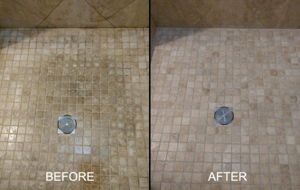 Travertine Shower Pan Restored