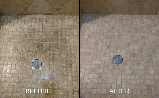 Travertine Shower Pan Restoration