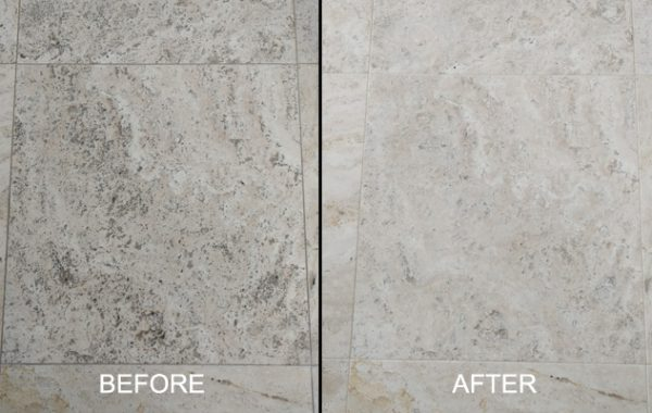 Unfilled Honed Travertine Restoration