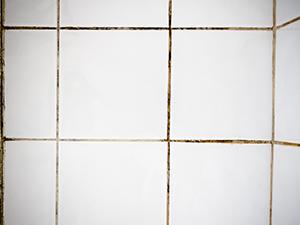 Dirty Grout Bathroom Tiles